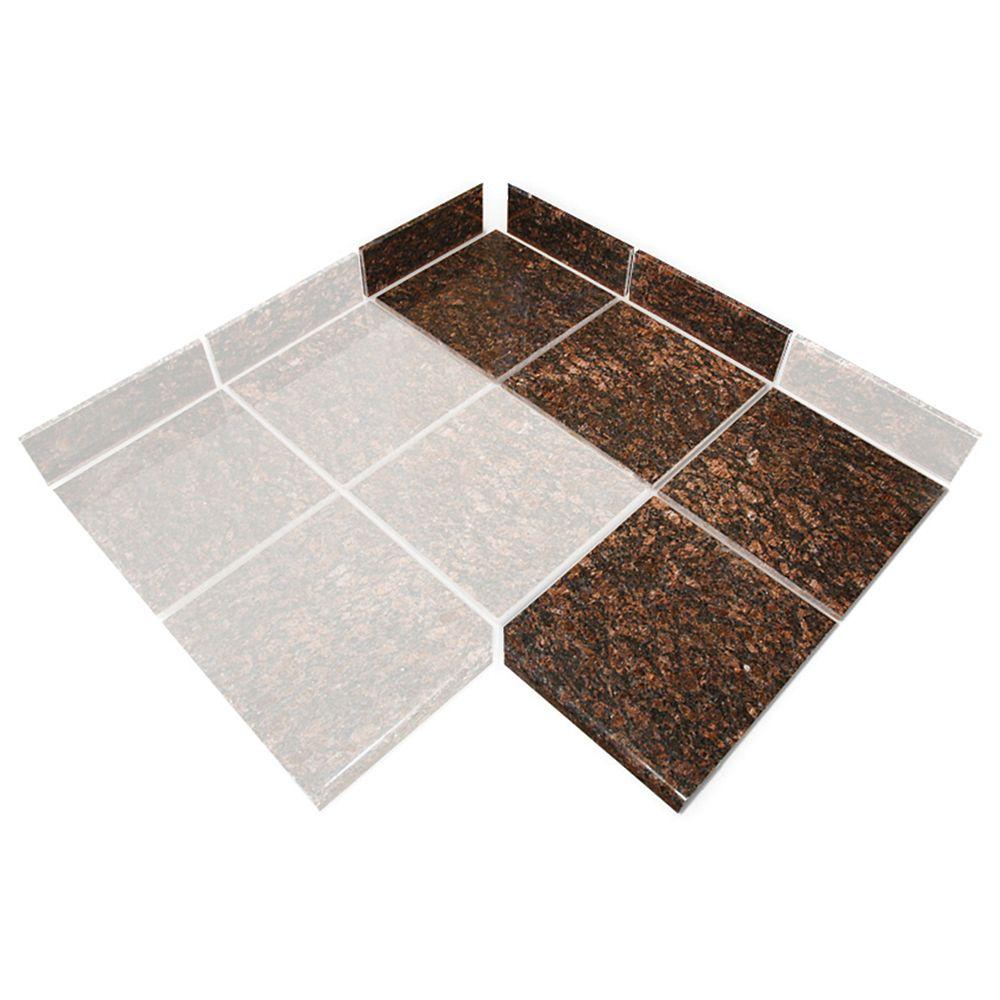 Tan Brown Modular Kitchen Tile 90 Degree Box B