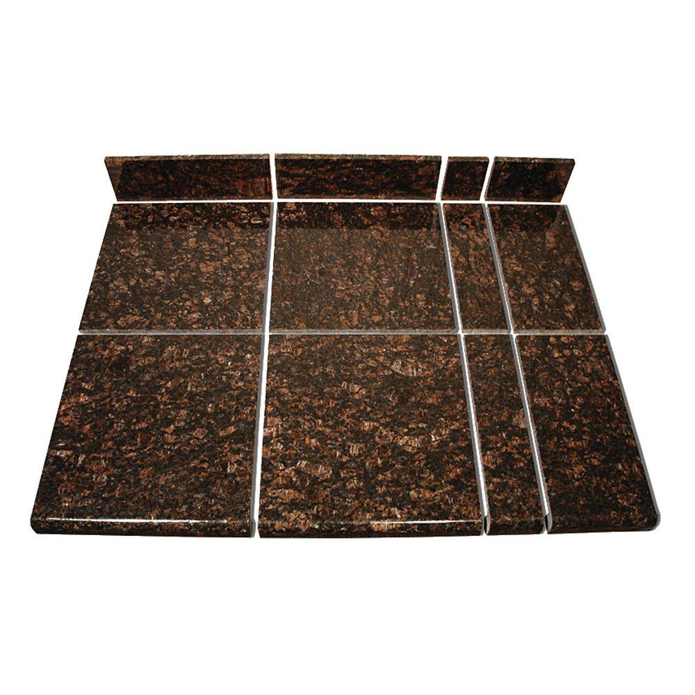 Kit intermédiaire A de carreaux modulaires brun clair pour la cuisine
