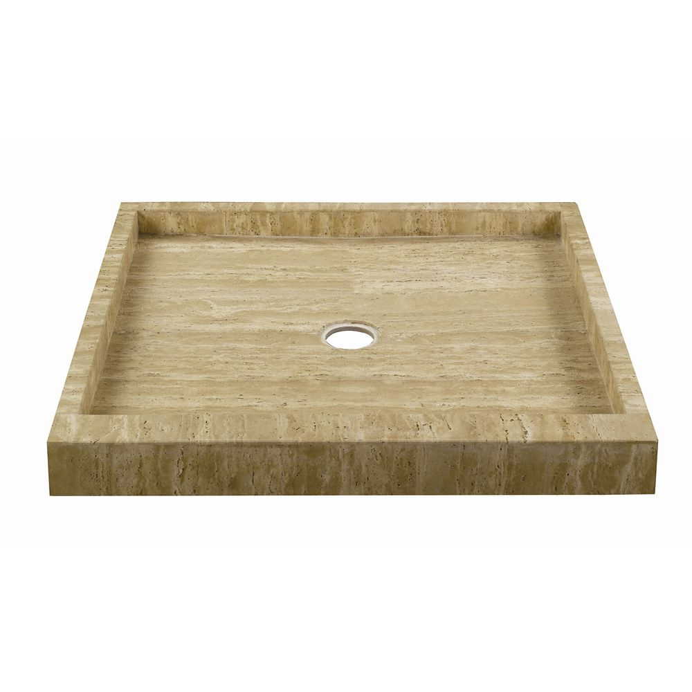Allure Ivory Select Travertine Shower Pan