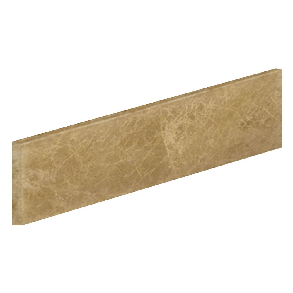 21 In. Light Emperador Marble Sidesplash
