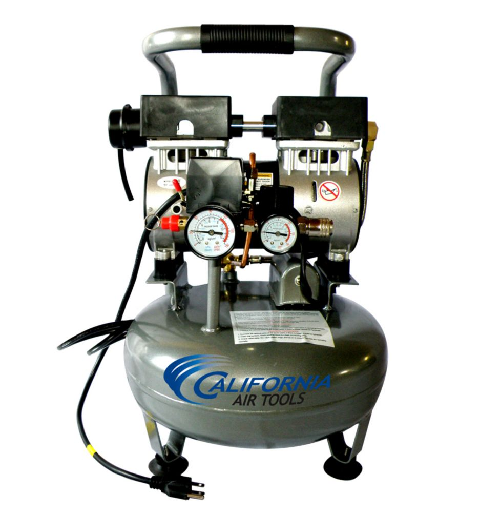 California Air Tools 3010 Compresseur d'air avec réservoir d'acier, sans huile, ultra silencieux,...