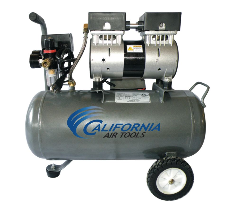Portable Air Compressor Ultra Quiet Oil-Free Steel Tank (6.3 Gal)