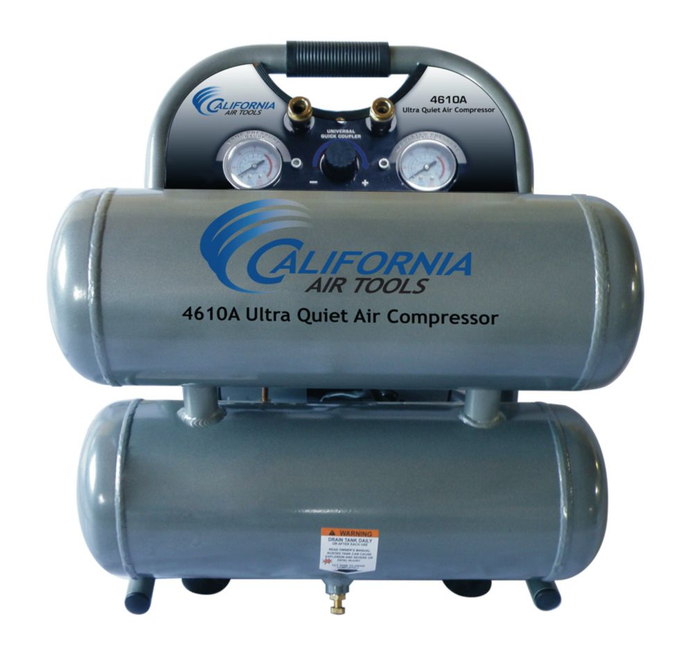 Air Compressor Ultra Quiet Oil-Free Aluminum Twin Tank