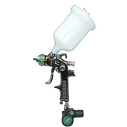 California Air Tools SP-324 HVLP Gravity feed Spray Gun with Air Regulator
