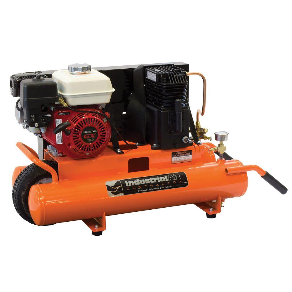 8 Gallon Portable Gas-Powered Air Compressor with 5.5 HP Honda Engine