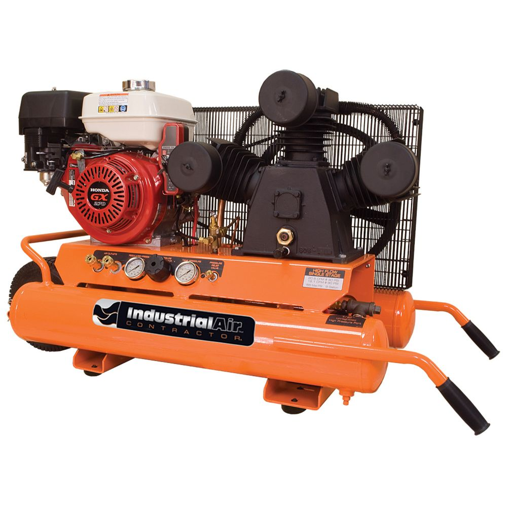 9 Gallon Portable Gas Powered Air Compressor with Electric Start