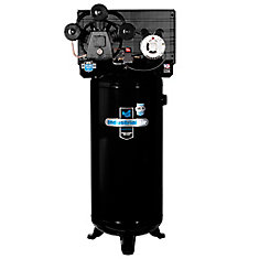 60 Gallon Stationary Electric Air Compressor with 3-Cylinder Pump