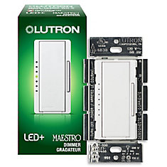 Maestro 150 Watt Single Pole 3Way or Multi Location Digital CFL LED Dimmer - White