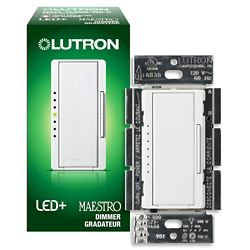 Lutron Maestro 150 Watt Single Pole 3Way or Multi Location Digital CFL LED Dimmer - White