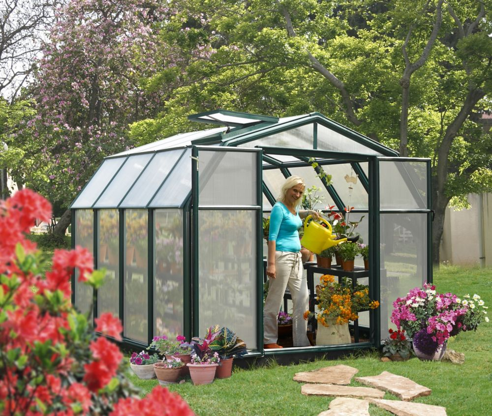 Rion Hobby Greenhouse - 8 Feet 6 Inches x 8 Feet 6 Inches