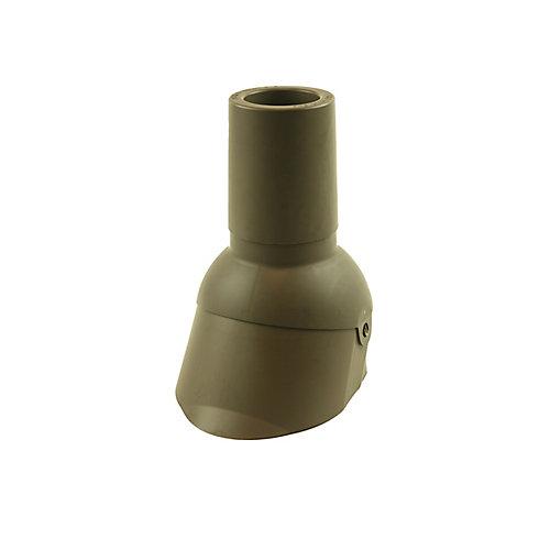 3 pouces Réparation d'un solin de tuyau d'évent brun de 3 pouces