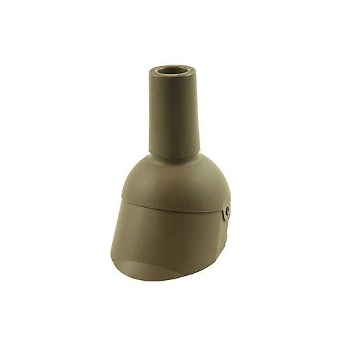 2 pouces Réparation d'un solin de tuyau d'évent brun de 2 pouces