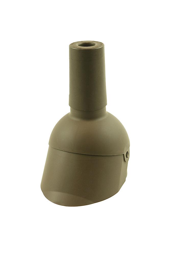 1.5 inch Brown vent pipe flashing repair