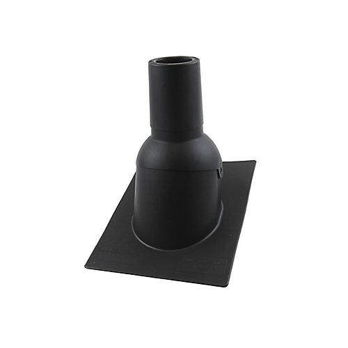 3 pouces Nouveau solin de toit/tuyauterie d'évent noir pour toiture neuve