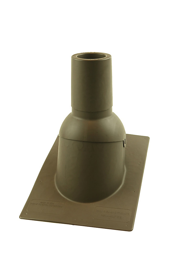 3 inch Brown new roof/re-roof vent pipe flashing