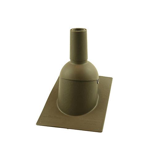 2 pouces Solin de toit/tuyauterie d'évent marron neuf de 2 pouces