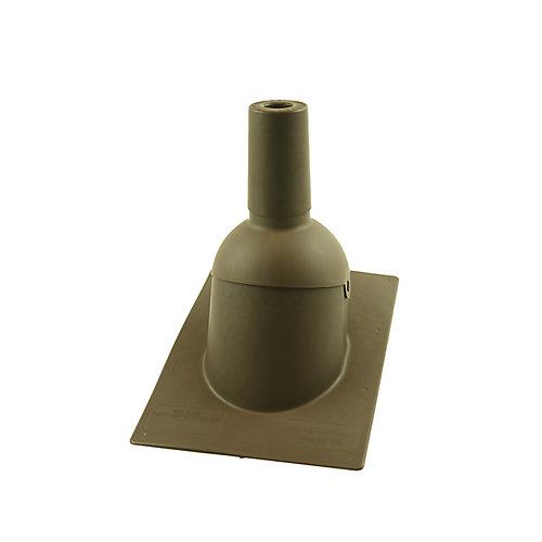 1,5 pouce Solin de toit/tuyauterie d'évent marron neuf de 1,5 pouce