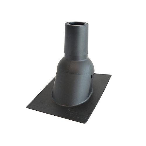 4 pouces Nouveau solin de toit/tuyauterie d'évent noir pour toiture neuve
