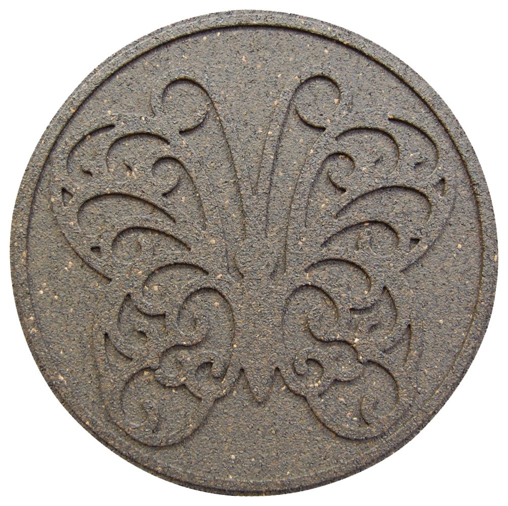 Round Decorative EARTH Step Stone, 18 Inch - 2 Pack