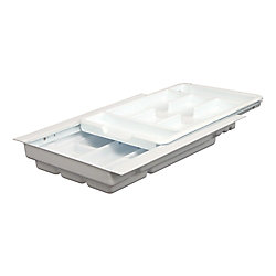 Knape & Vogt Double Tiered Tableware Tray - 12.25 to 14.75 Inches Wide