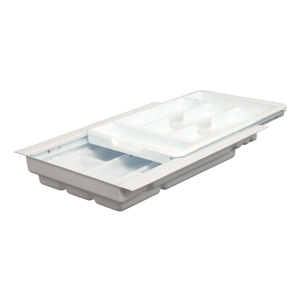 Double Tiered Tableware Tray - 12.25 to 14.75 Inches Wide