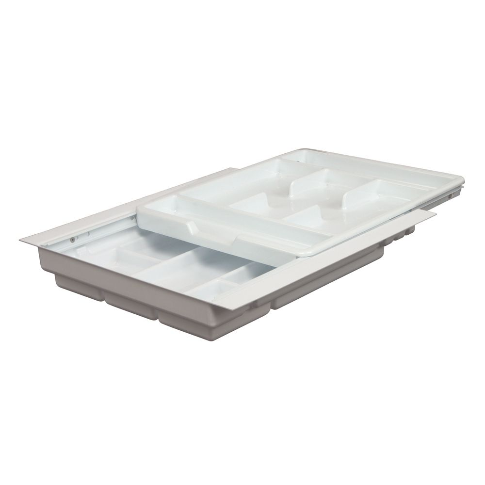 Double Tiered Tableware Tray - 15.25 to 17.75 Inches Wide