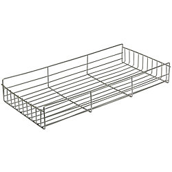 Knape & Vogt Frosted Nickel Side-Mount Pantry Basket - 10 Inches Wide