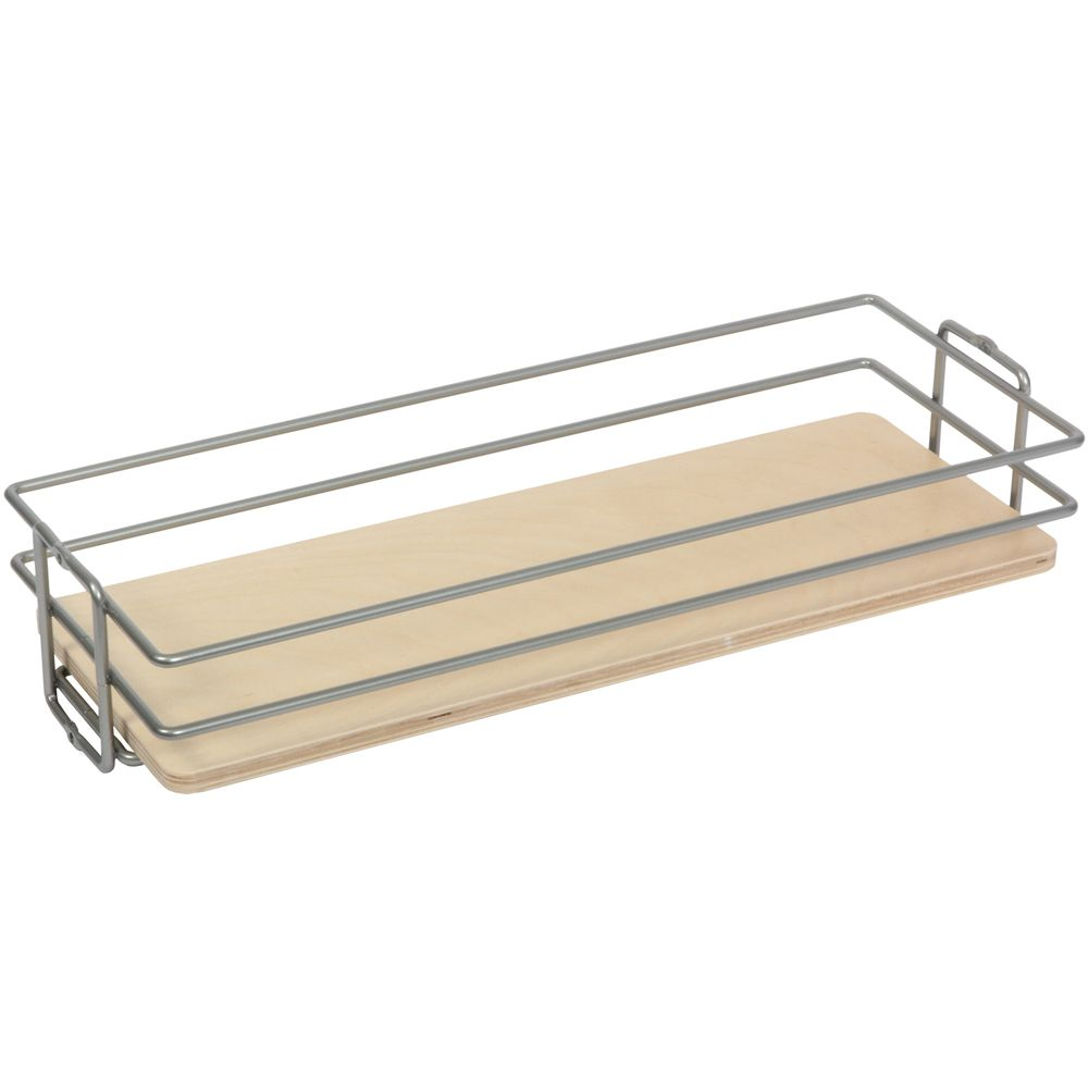 Frosted Nickel Center-Mount Pantry Basket - 11 Inches Wide