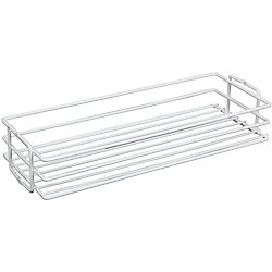 Knape & Vogt White Center-Mount Pantry Basket - 11 Inches Wide