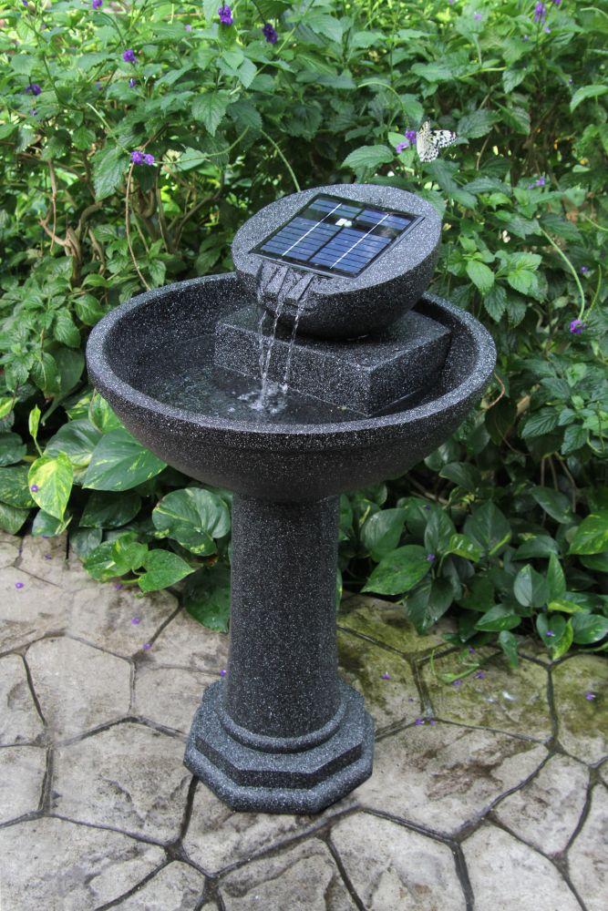 Fontaine solaire Rosella de Greenway avec fini en granite