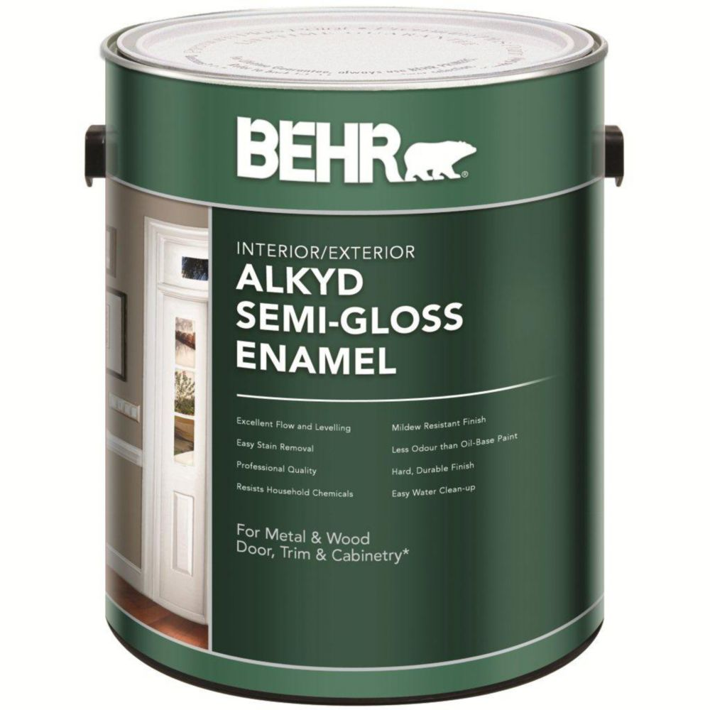 What Is The Difference Between Interior And Exterior Latex Paint: Behr BEHR Interior/Exterior Alkyd Semi-Gloss Enamel Paint