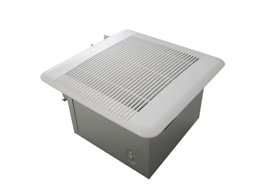 Hampton bay ventilateur de plafond pour salle de bains 110 for Ventilateur salle bain
