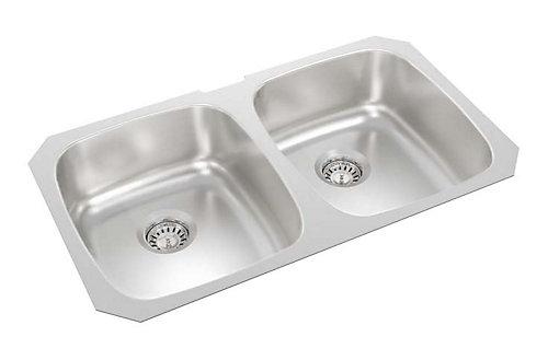 Wessan 31-inch x 18-inch x 8-inch Double Bowl Undermount Kitchen ...