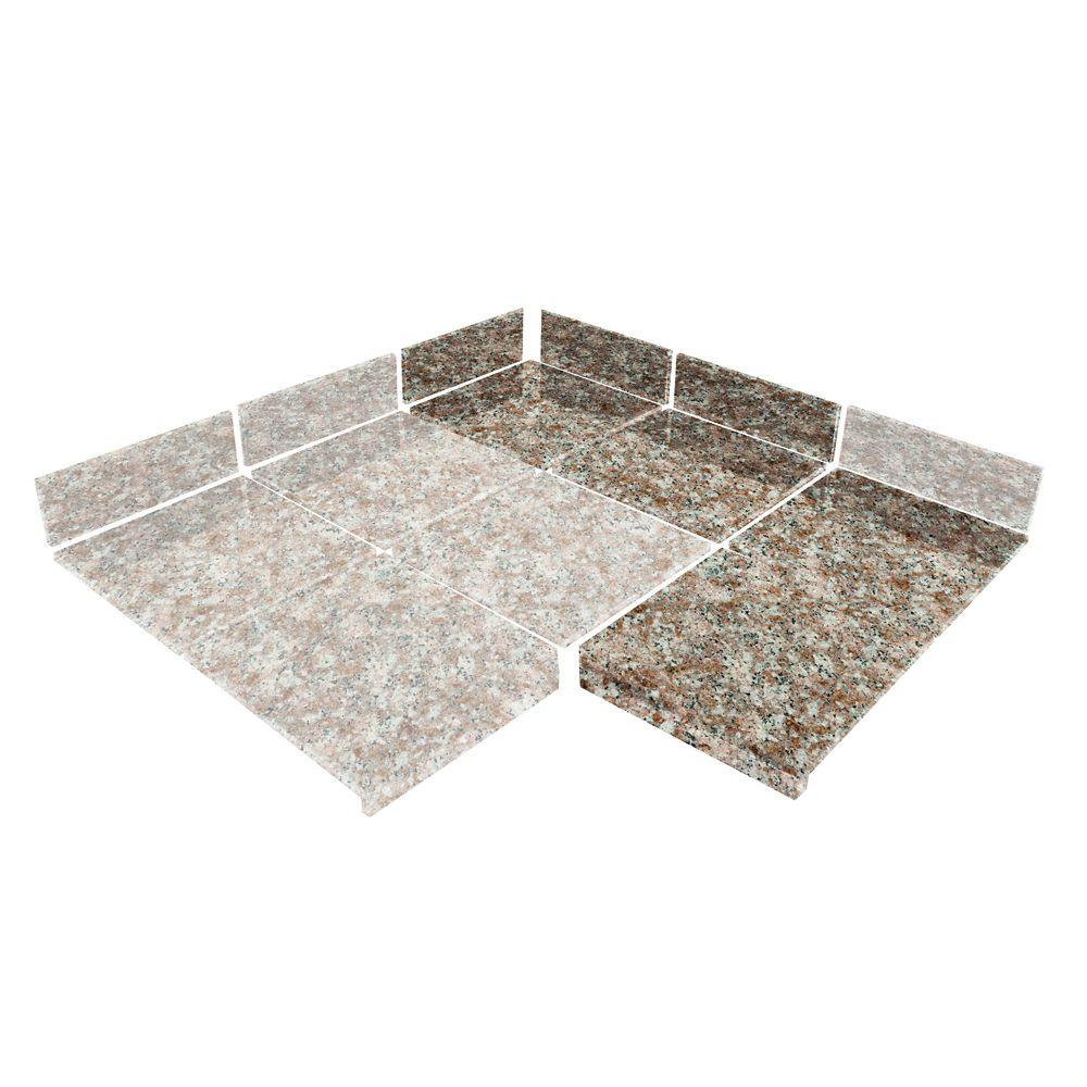 Mauve Modular Kitchen Tile 90 Degree Box B