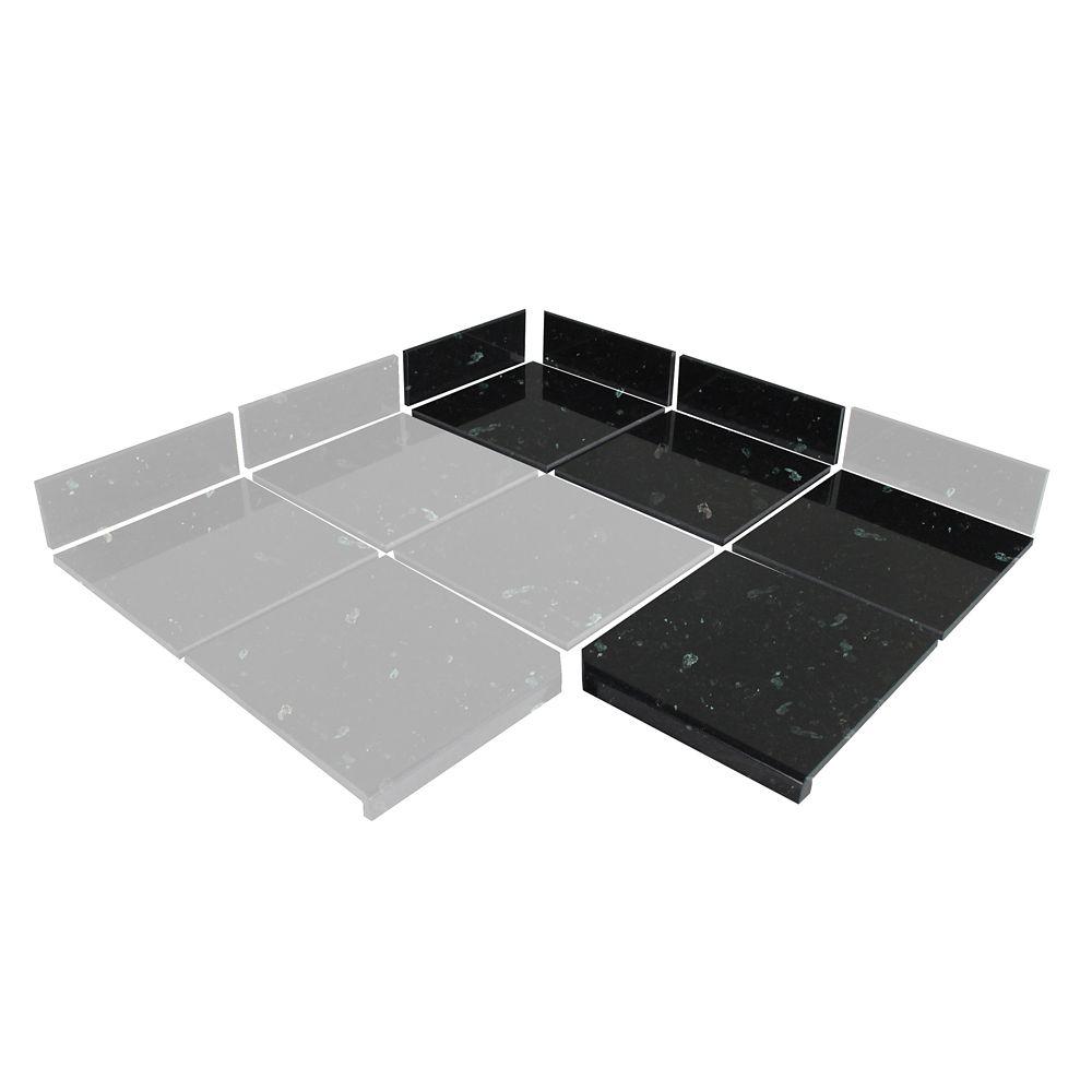 Kit de 90° de carreaux modulaires perle émeraude pour la cuisine (Boîte B)