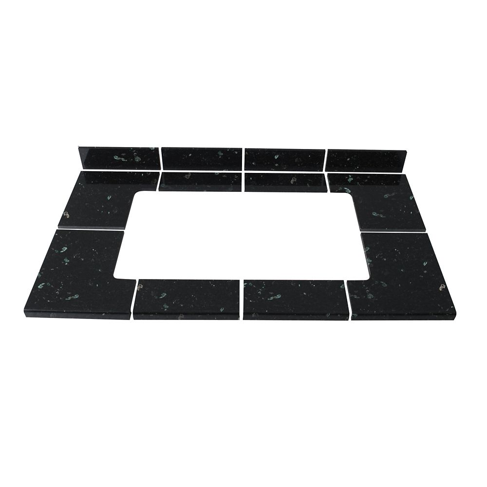 Emerald Pearl Modular Kitchen Tile Sink Kit