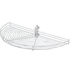 pivotout half moon white wire lazy susan 295 inches diameter
