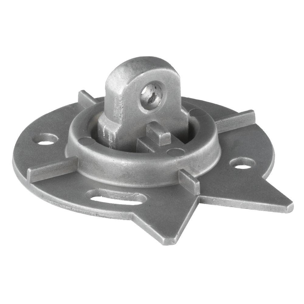 Plaque de montage universelle en aluminium pour plateaux tournants