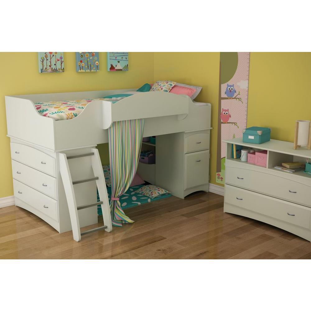 South Shore Imagine TV Stand/Storage Unit Pure White