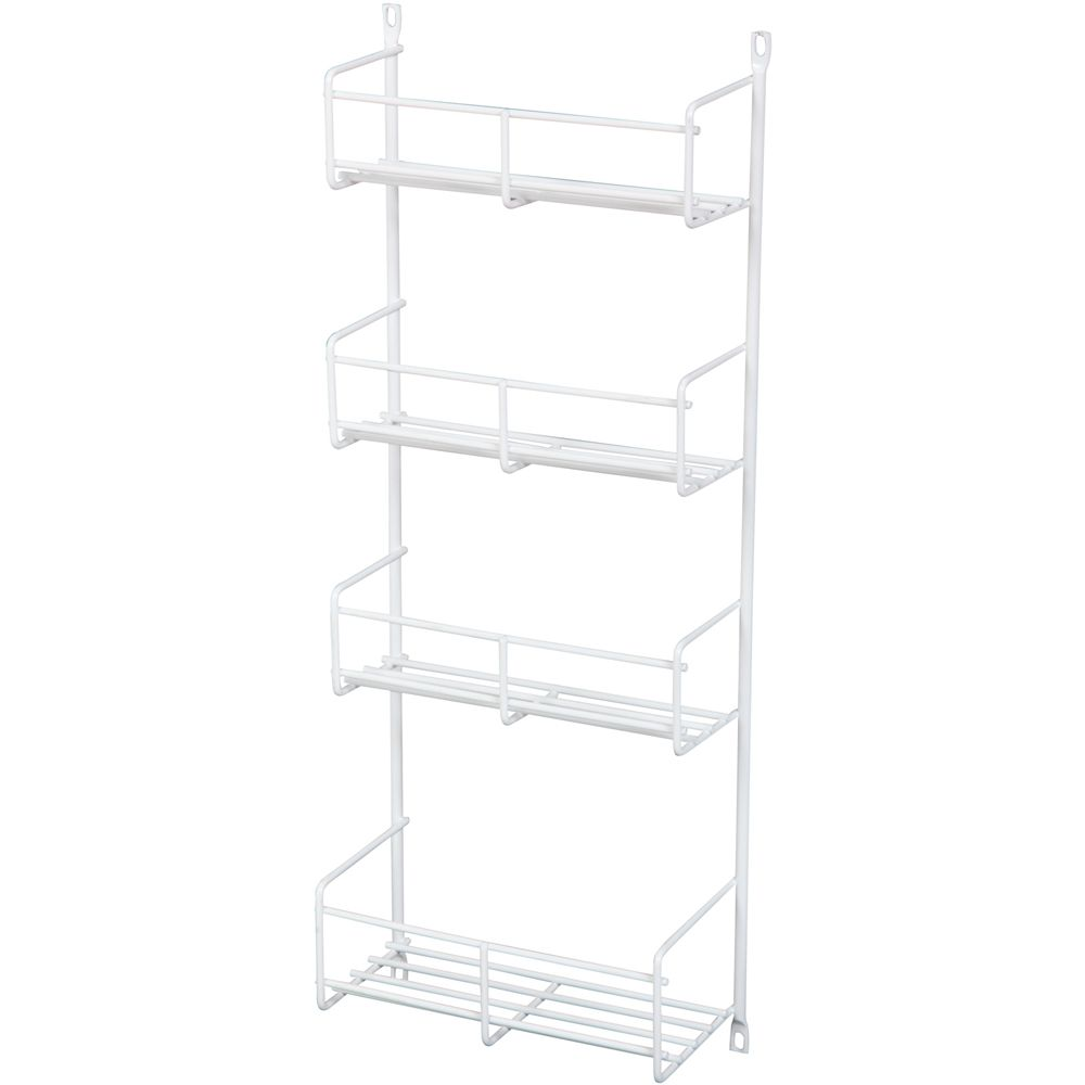Door Mounted White Spice Rack Single Pack - 7.8125 Inches Wide