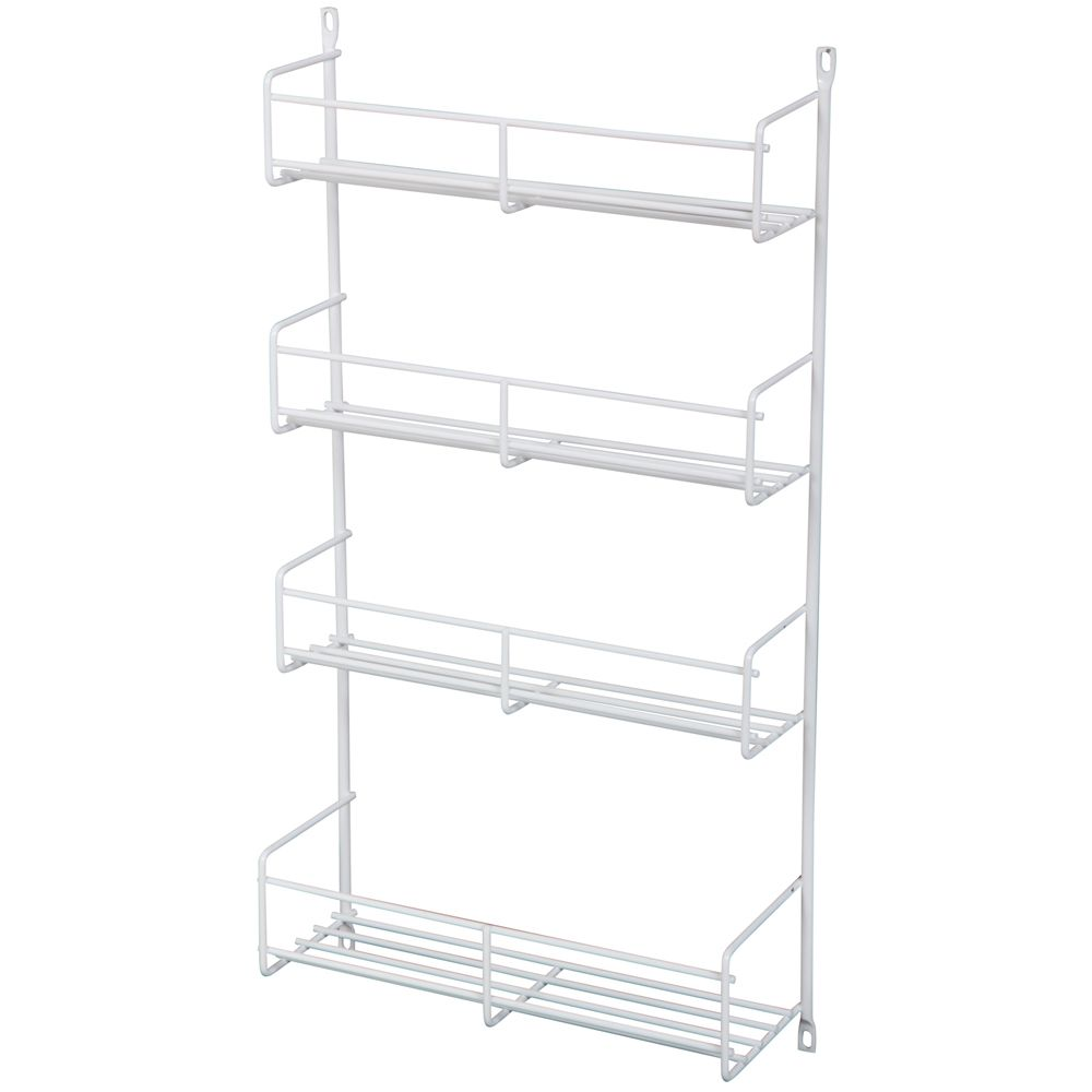 Door Mounted White Spice Rack Single Pack - 13.8125 Inches Wide
