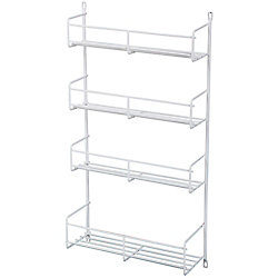Knape & Vogt Door Mounted White Spice Rack - 13.8125 Inches Wide