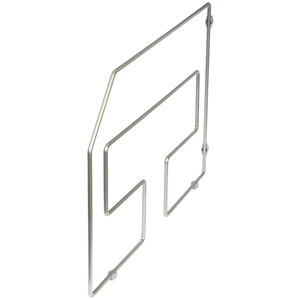 Frosted Nickel Tray Divider Single Pack - 12 Inches Tall