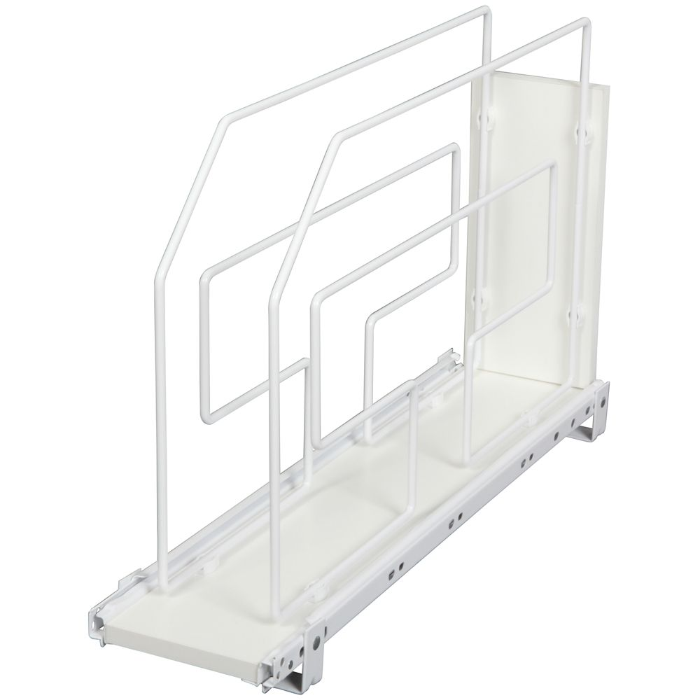 White Tray Divider Roll-Out - 6 Inches Wide