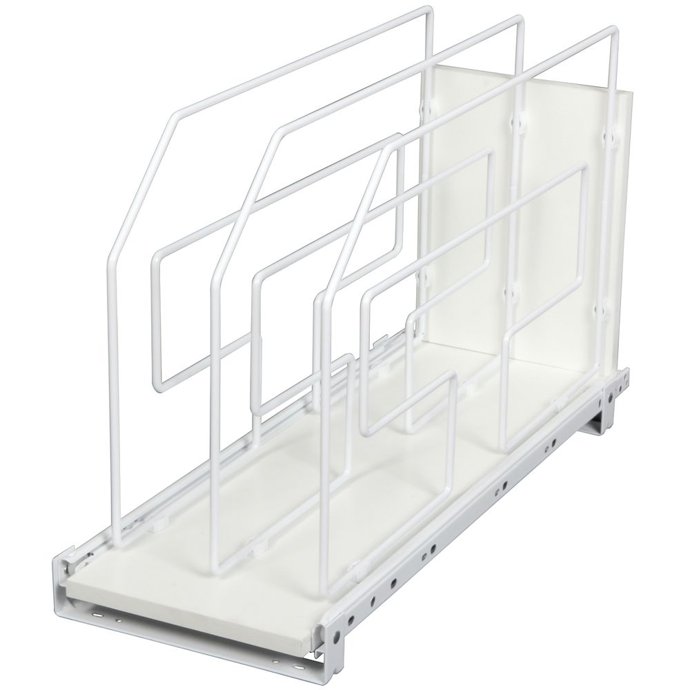 White Tray Divider Roll-Out - 9 Inches Wide