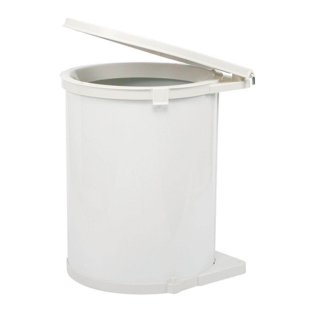 Pivot Out White 32 Quart Recycling Bin