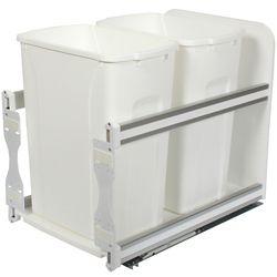 Knape & Vogt Unité à déchets et à recyclage à deux contenants de 33 litres à fermeture douce blanc - 11,81 pouces de largeur - Couvercle non inclus