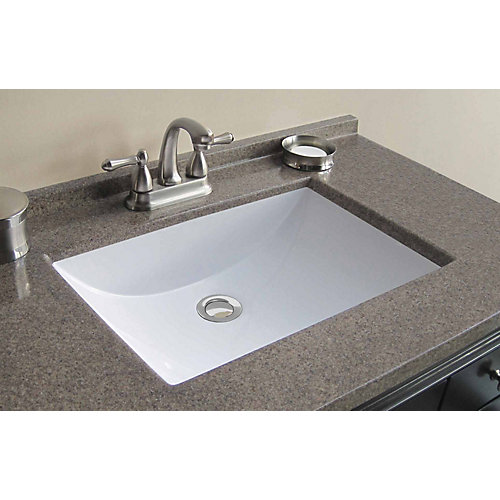 Custom Bathroom Vanity Tops Canada magick woods 37-inch w x 22-inch d cultured granite vanity top in