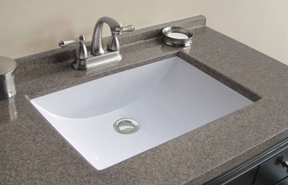 37 Inch W X 22 Inch D Cultured Granite Vanity Top In Walnut With