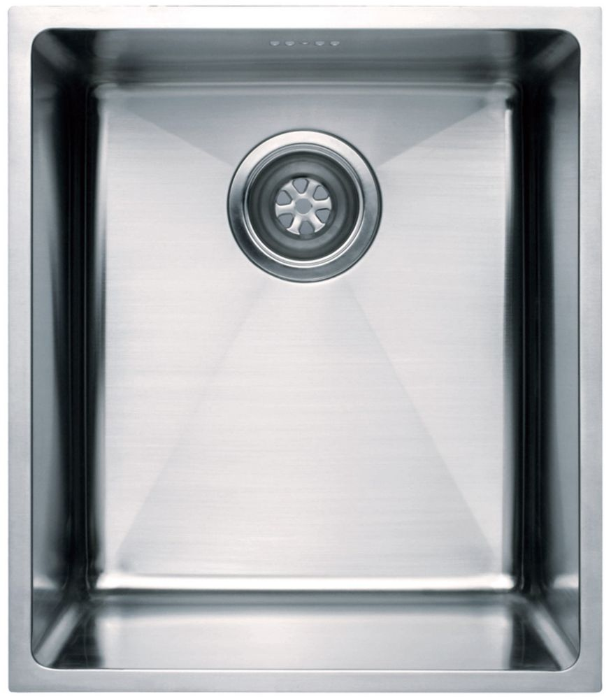 Simple évier encastré vertical avec coins arrondis